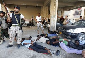 Blacks killes in Libya by terrorist rebels